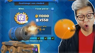 Finishing the Cannon Cart Challenge | Clash Royale