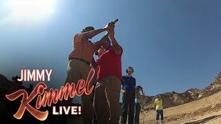 Jimmy Takes Blind People to a Shooting Range