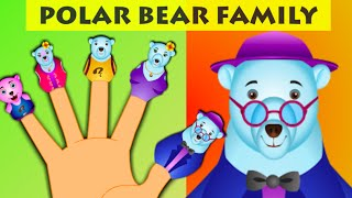 Polar Bear Finger Family - Animal Finger Family Songs For Children