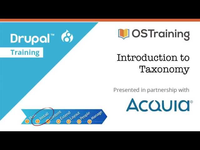 Drupal 8 Beginner, Lesson 27: Introduction to Taxonomy