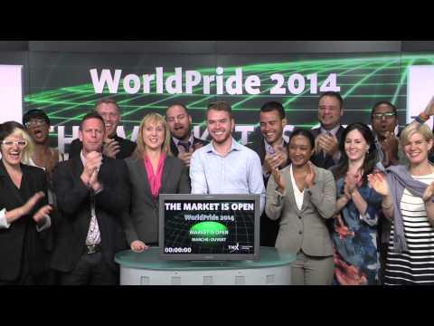 WorldPride 2014 opens Toronto Stock Exchange, June 23, 2014.