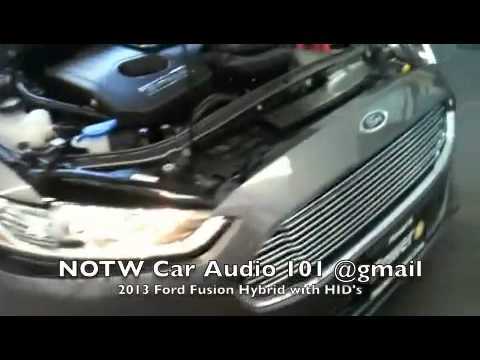 2013 Ford Fusion Hybrid with HID's on Lobeamfog lights