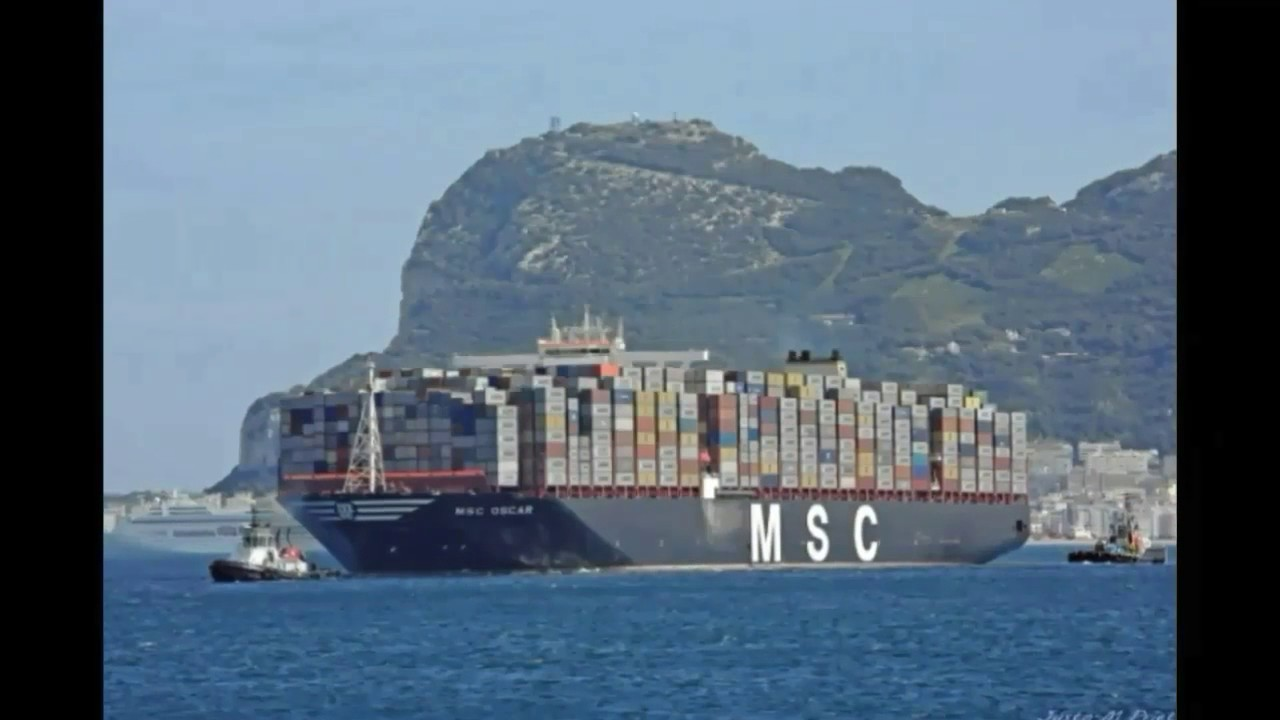 MSC OSCAR largest container ship in the world 2017. - YouTube