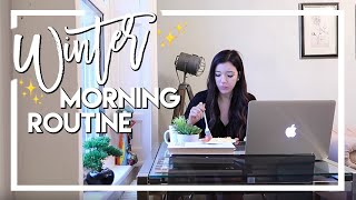REAL WINTER MORNING ROUTINE FOR WORK 2018 | Vlogmas Day 18