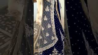 Blue bridal trail gown with jacket(7)