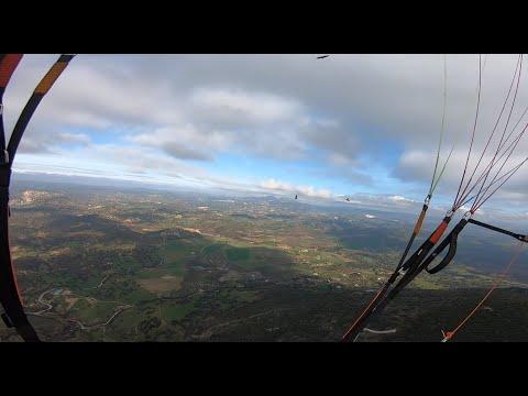 Paragliding beauty of free flight