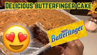 How to make a Delicious Butterfinger Cake