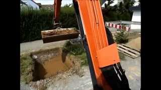 Bagger fahren Inside - Excavator and excavator driving