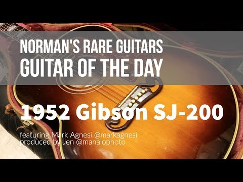 Norman's Rare Guitars - Guitar of the Day: 1952 Gibson SJ-200
