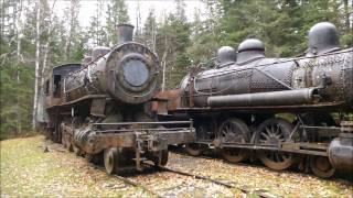 Abandoned Maine steam engines