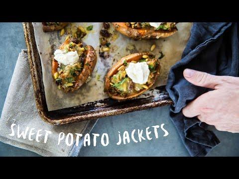 How To Make Stuffed Sweet Potato Jackets | Stuffed W Lamb !