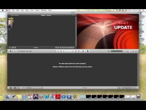 selecting Newscast for iMovie theme