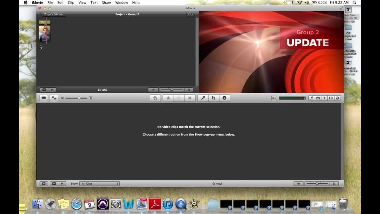 selecting Newscast for iMovie theme - YouTube