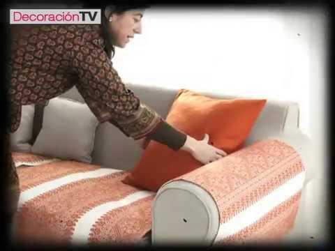 C mo hacer una funda para el sof manualidades y trucos - Como confeccionar cojines para sofas ...