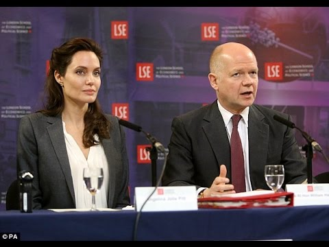 Angelina Jolie and William Hague join Forces at Launch of Centre Targeting the Abuse of Women in War