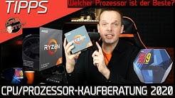 CPU/Prozessor Kaufberatung 2020 | Welcher Prozessor ist der Beste? | AMD vs Intel | DasMonty