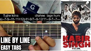 Tujhe kitna chahne lage hum guitar tabs lesson on single string. written : http://www.shubhamsguitartabs.com/ get in touch with me instagram https:...