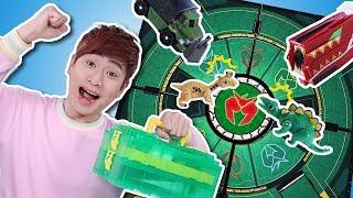 타이니소어~ 고!!!! 공룡메카드 배틀 필드 세트 대결 놀이 - 강이