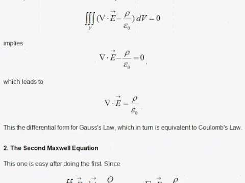E3. The Maxwell Equations in Differential Form - YouTube