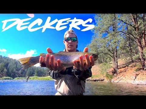 Deckers Fly Fishing On-top And Underneath!