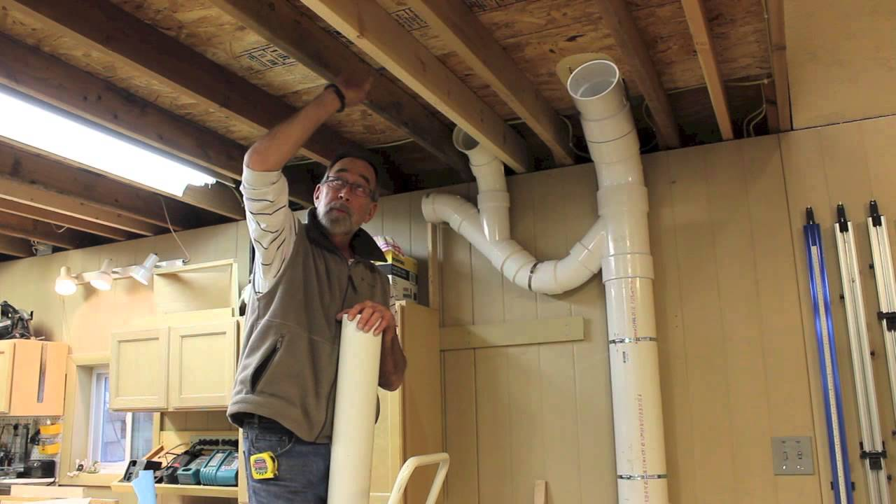 Dust Collector Piping Up The Ductwork Youtube