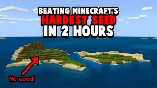 Can I Beat Minecraft's Hardest Seed In 2 Hours!?