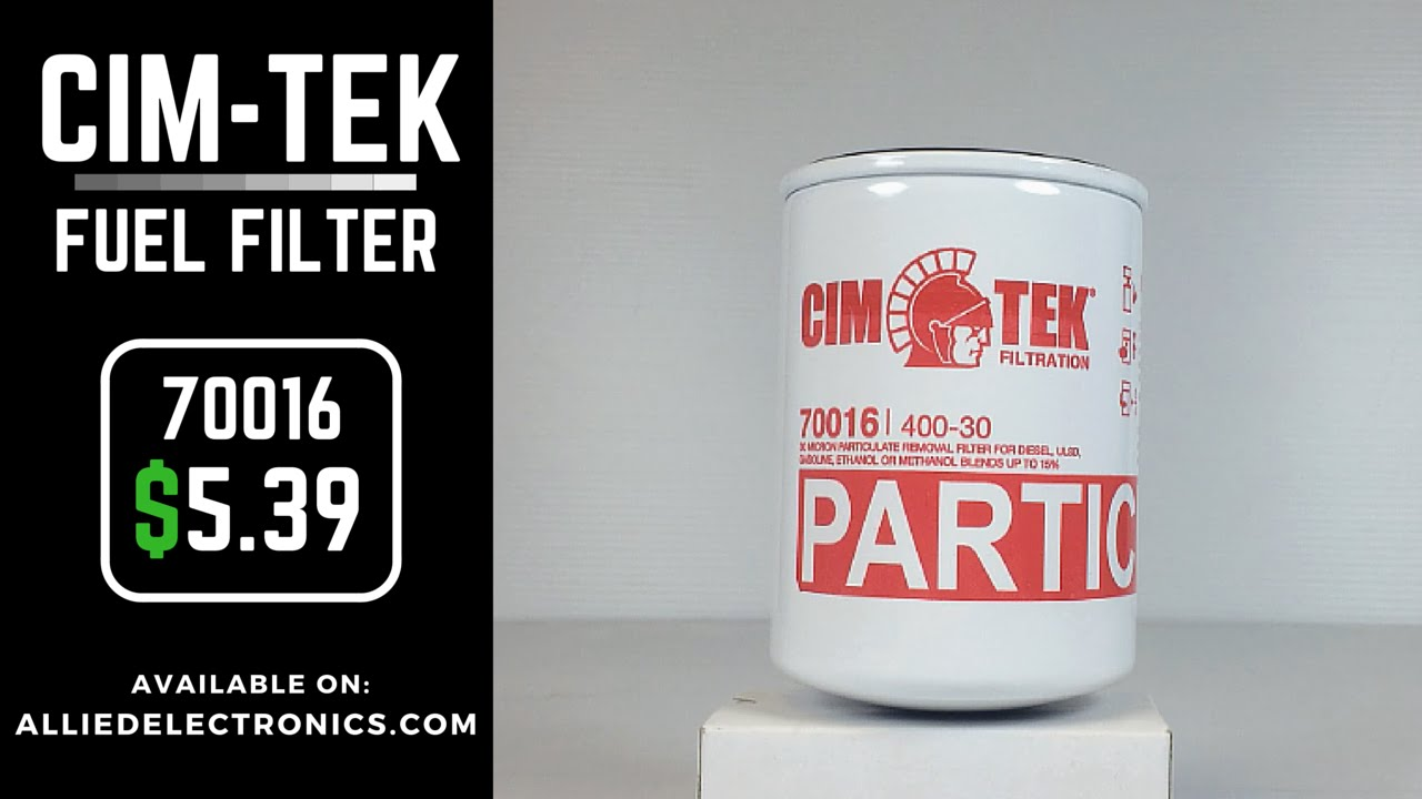 """Cim-Tek 70016 Fuel Filter: 30 Micron 1 1/2"""" 16 UNF 1"""" Flow 400-30"""