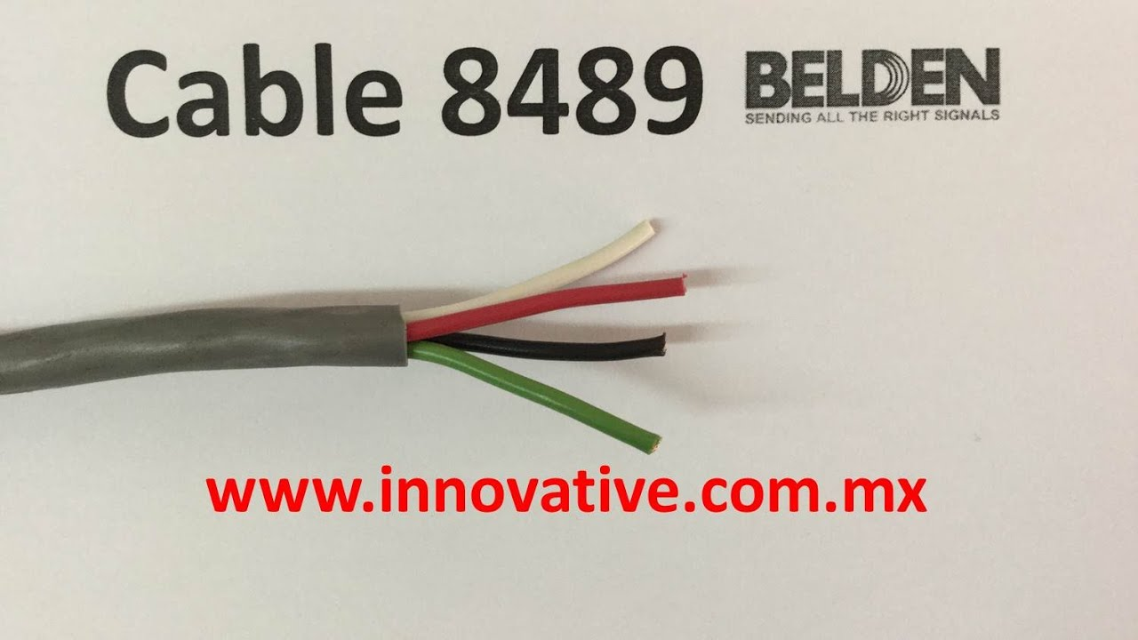 Cable 8489 Belden - YouTube
