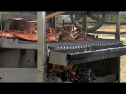 Steven Raichlen grills Lobster on Primal Grill - YouTube