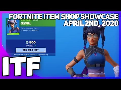 Fortnite Item Shop CRYSTAL IS BACK! [April 2nd, 2020] (Fortnite Battle Royale)