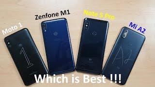 [Hindi] Motorola One Power vs Redmi Note 5 Pro vs Asus Zenfone Max Pro M1 vs Mi A2 Comparison !!!