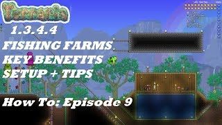 Terraria 1.3.4.4 HOW TΟ | Important Fish Farms + Tips Making it Easier | Episode 9