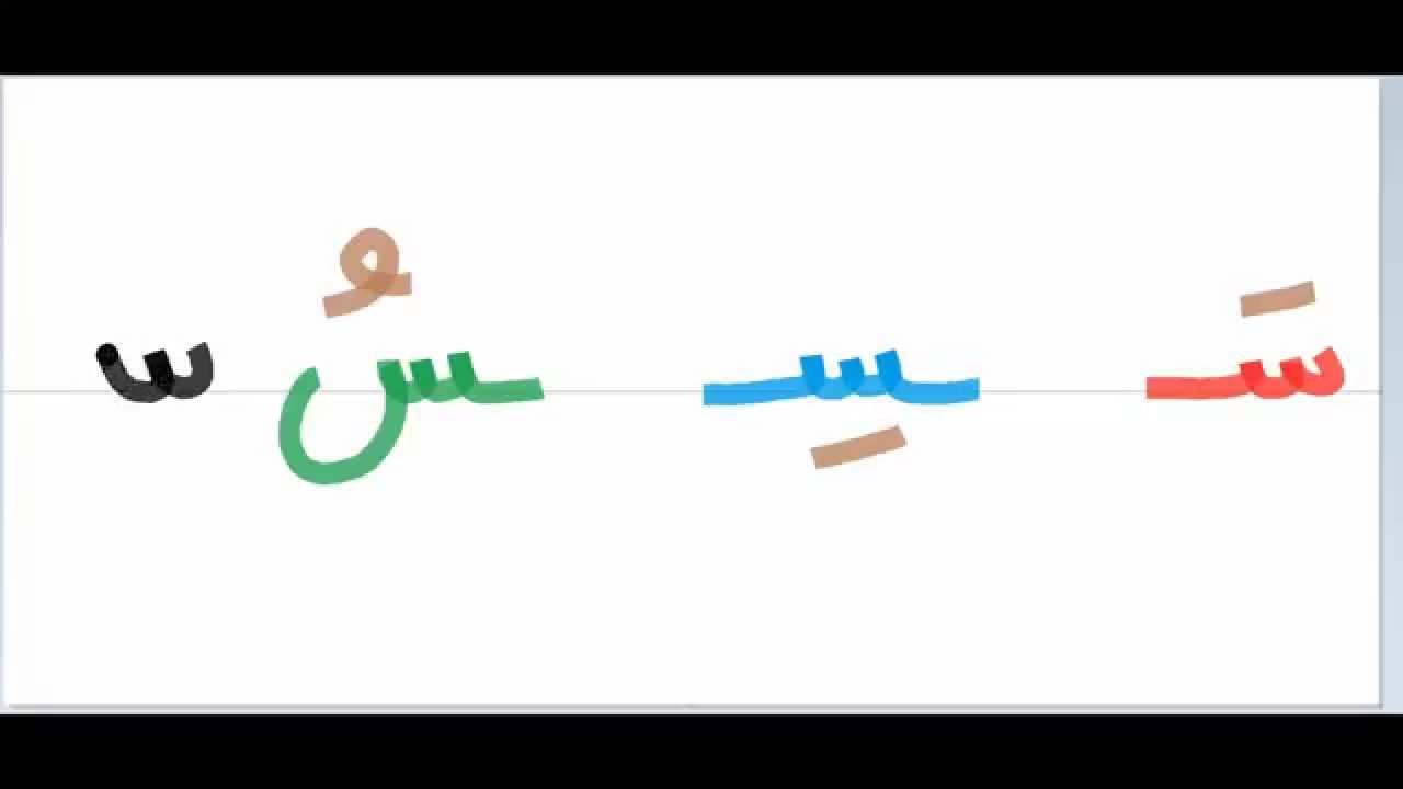 طريقة كتابة حرف السين - YouTube: http://www.youtube.com/watch?v=upKcoWcQb7A