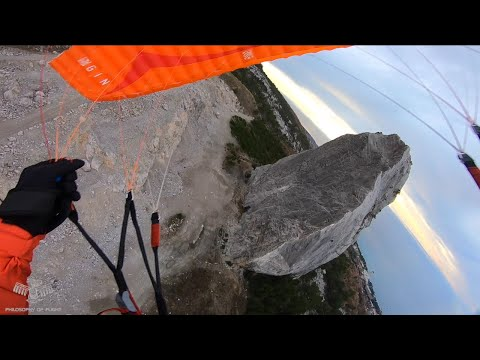Спидфлаинг в Крыму проэкт г. Морчека/ Speedflying In Crimea Morcheka Mountain Project/Gin Fluid2 8.5