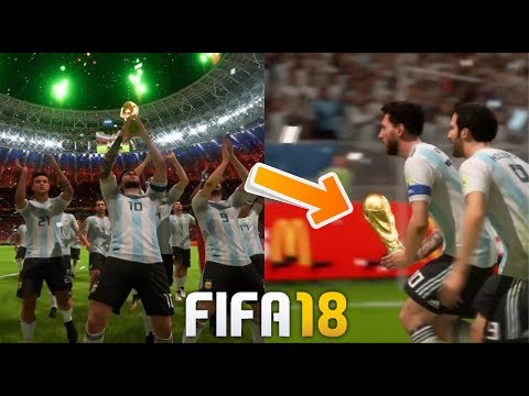 FIFA 18 World Cup Final Winning Moments And Celebration | Messi Lifting World Cup 2018 Russia