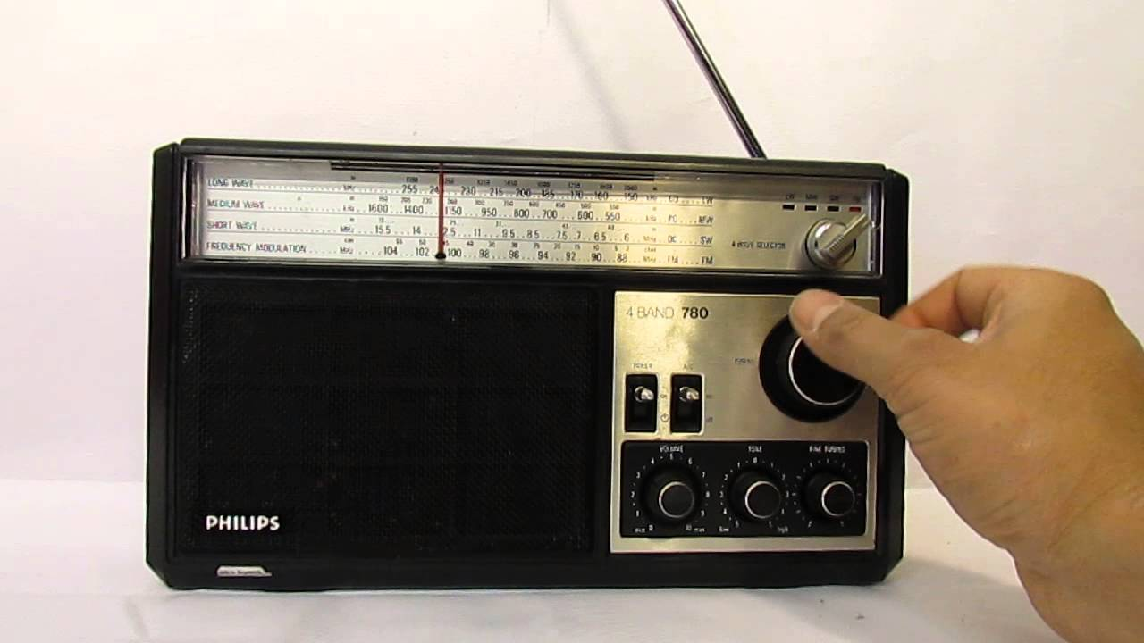 Philips 780 Transistor Radio 4 Band 1978 First Launched
