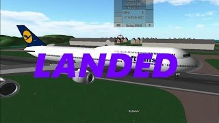 ROBLOX A Place With Airliners Trying To Land The 747 at Tao Island (twice)
