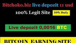 BitChoko.biz Live Depozit 11 USD / 0,0016 BTC | Invest Safe!