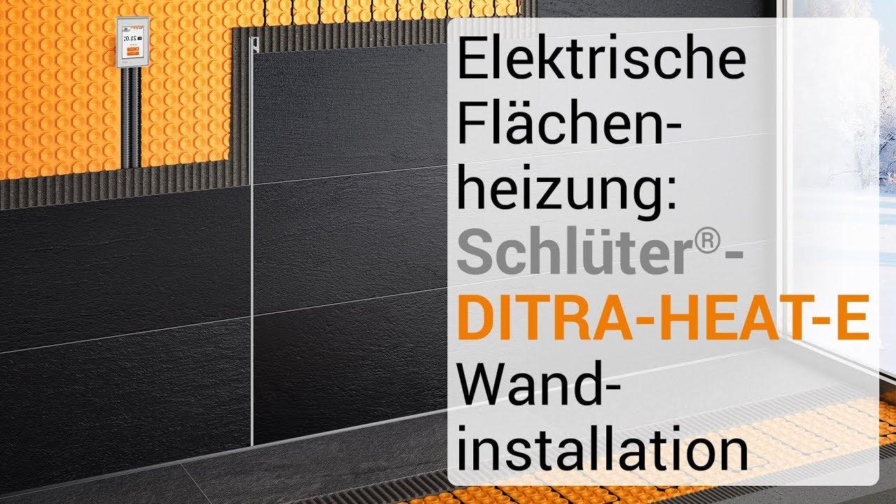 Elektrische Flachenheizung Schluter Ditra Heat E Wand Und