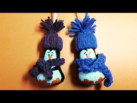Пингвины из Лампочки / НОВОГОДНИЕ ПОДЕЛКИ своими руками
