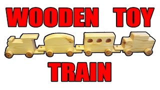 This simple wooden toy train was made with half of a 2x4x8 and a couple dowels for the pins, wheels and axles. Visit my website: ...