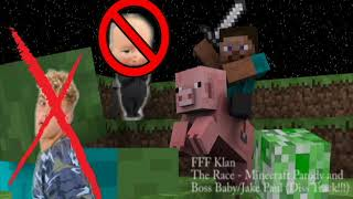 The Race - Minecraft Parody/Boss Baby and Jake Paul Disstrack!!! (Tay Kay - The Race)