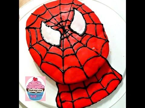 Diy Spiderman Motivtorte Geburtstagstorte Mit Fondant