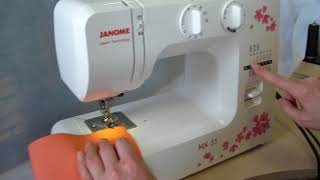 Обзор электромеханической швейной машины Janome MX55