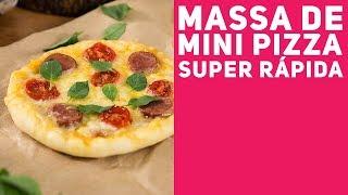 MINI PIZZA CASEIRA (Como fazer a massa) - Receitas de Minuto EXPRESS #280