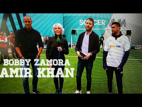 BOBBY ZAMORA AND AMIR KHAN TAKING PENALTIES