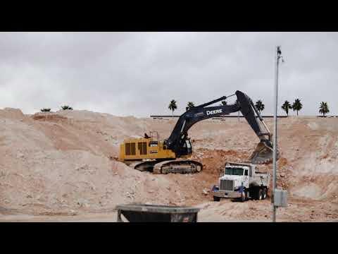 John Deere 870G Excavator at Raiders Stadium in Las Vegas