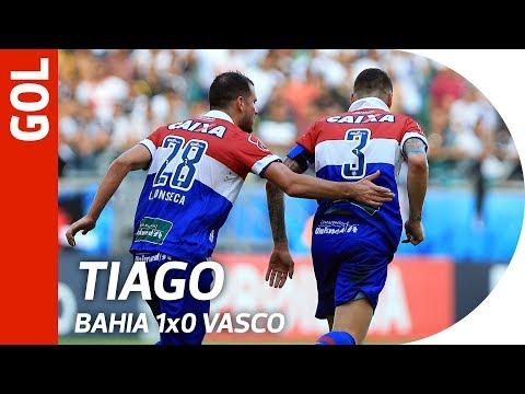 Gol de Tiago - Bahia 1x0 Vasco