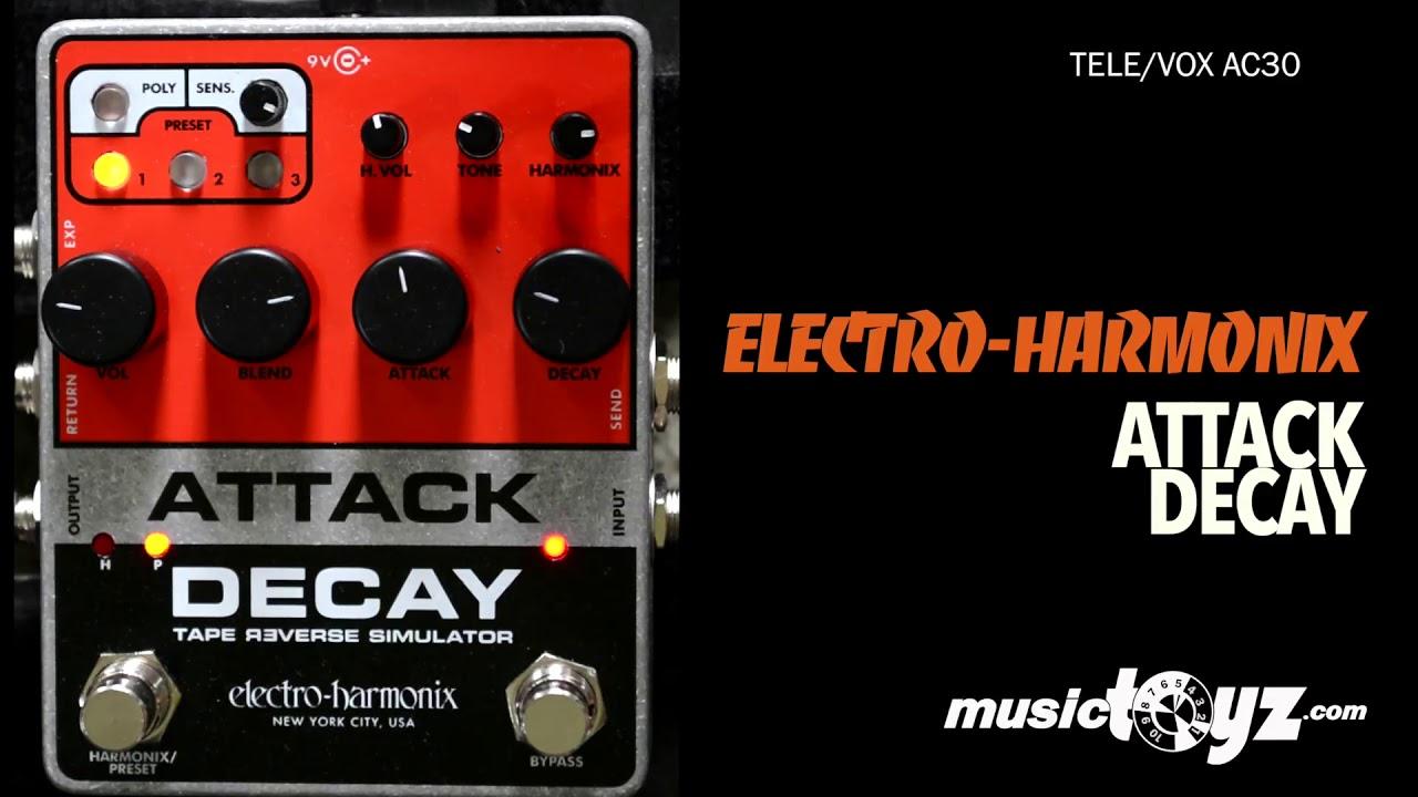 electro harmonix attack decay tape reverse simulator guitar pedal youtube. Black Bedroom Furniture Sets. Home Design Ideas
