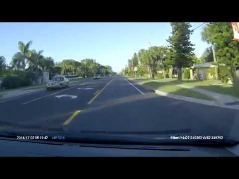 Test drive HP F210 dash camera
